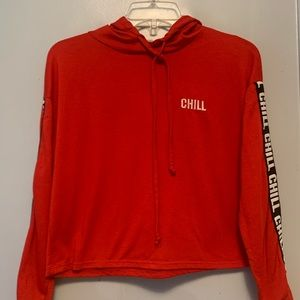 Cropped chill hoodie shirt